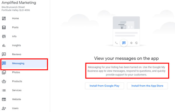 How to add messaging to your Google My Business profile