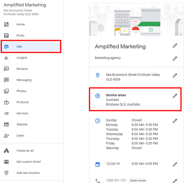 How to add service areas to your Google My Business profile