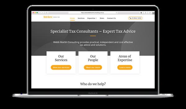 Webb Martin Consulting Website Mockup