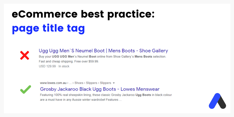 How to write title tags for eCommerce product pages