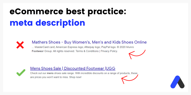 how to write meta descriptions for eCommerce SEO