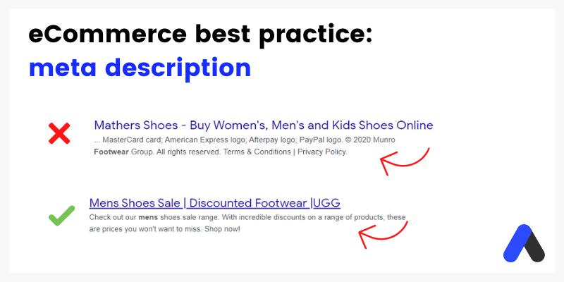how to write meta descriptions for eCommerce SEO