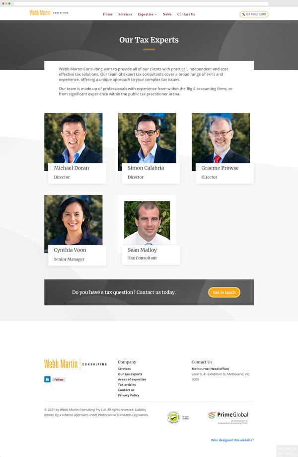 Webb Martin Consulting - Tax Experts screenshot
